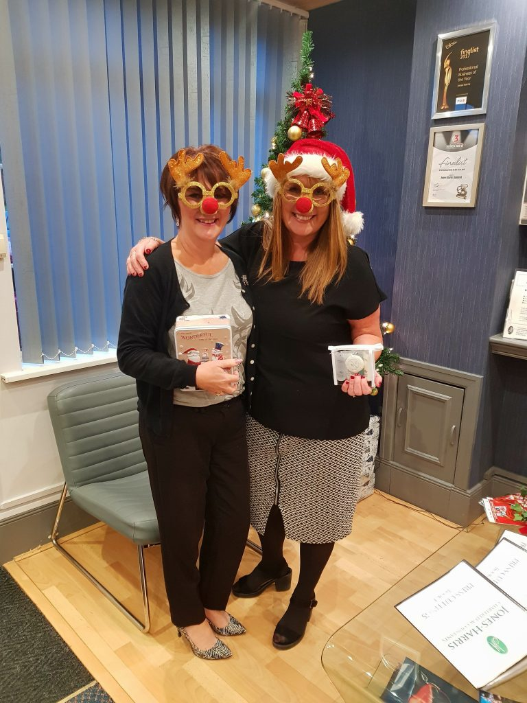Jane and Angela - Christmas Jumpers at Jones Harris