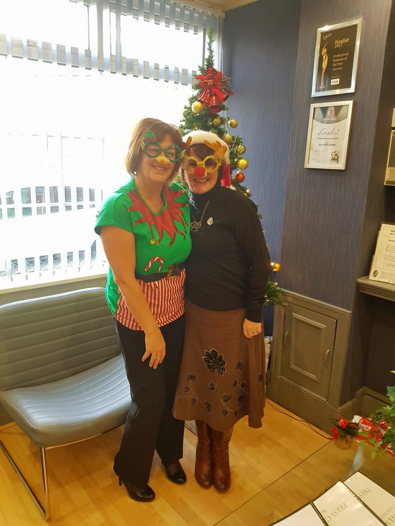 Yvonne and Jane, Christmas Jumpers at Jones Harris