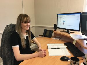 Hannah Wilson, new member of the bookkeeping team at Jones Harris Fleetwood