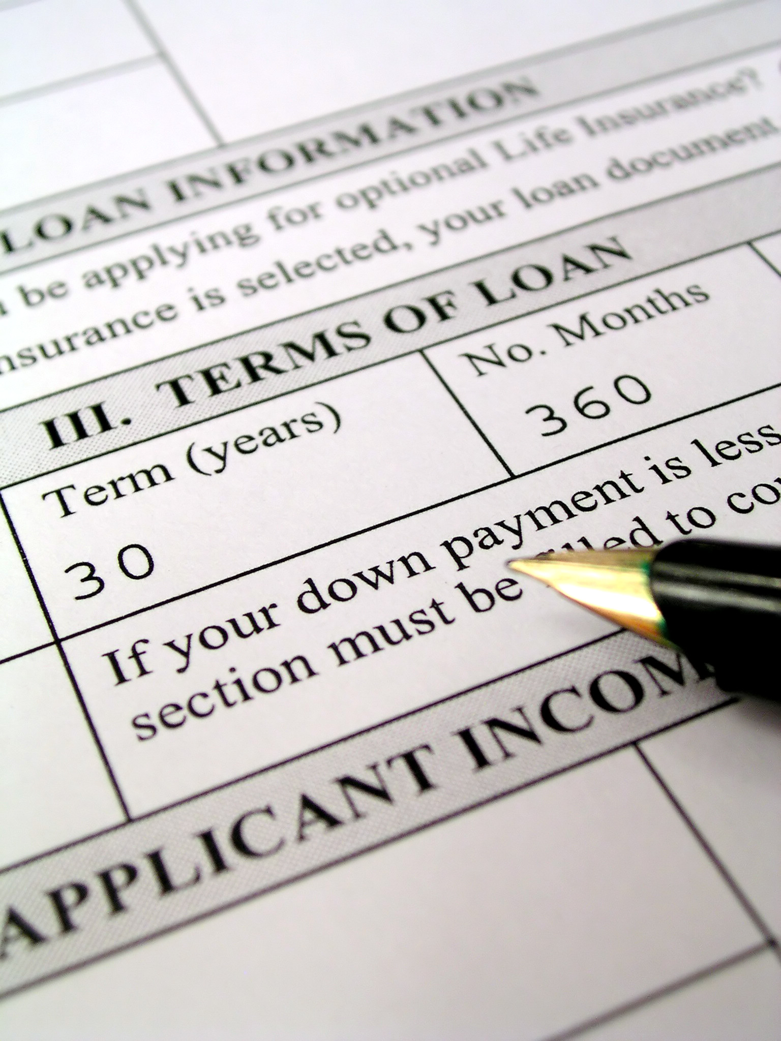 Loan application, being turned down for a business bank loan