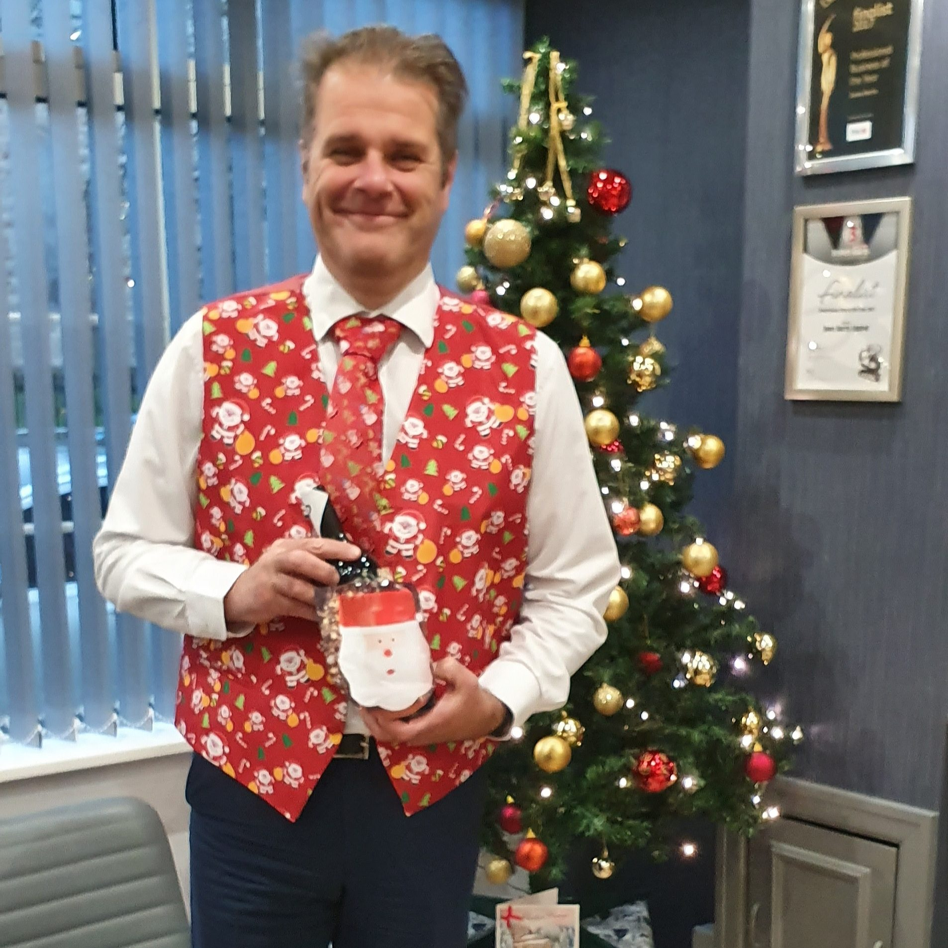Christmas Jumper Day strikes again, here's Director Martin Wigley in festive dress!