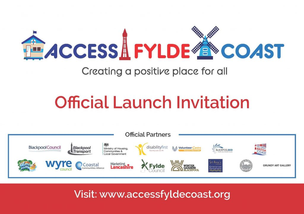 Access Fylde Coast official launch invitation