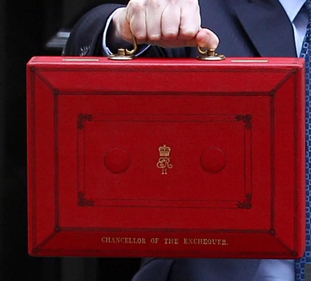 Autumn Budget - Red briefcase