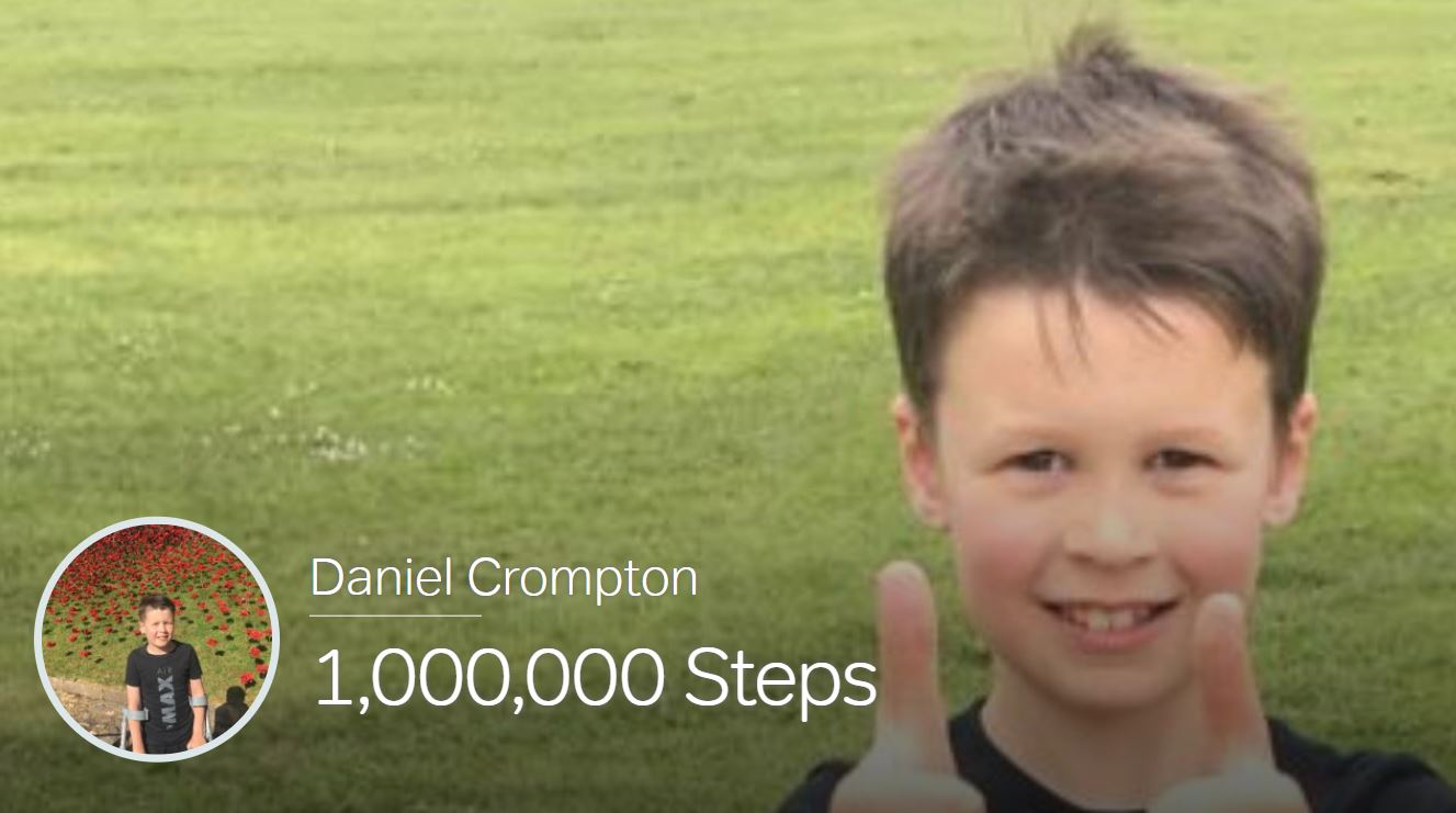Daniel Crompton walking one million steps