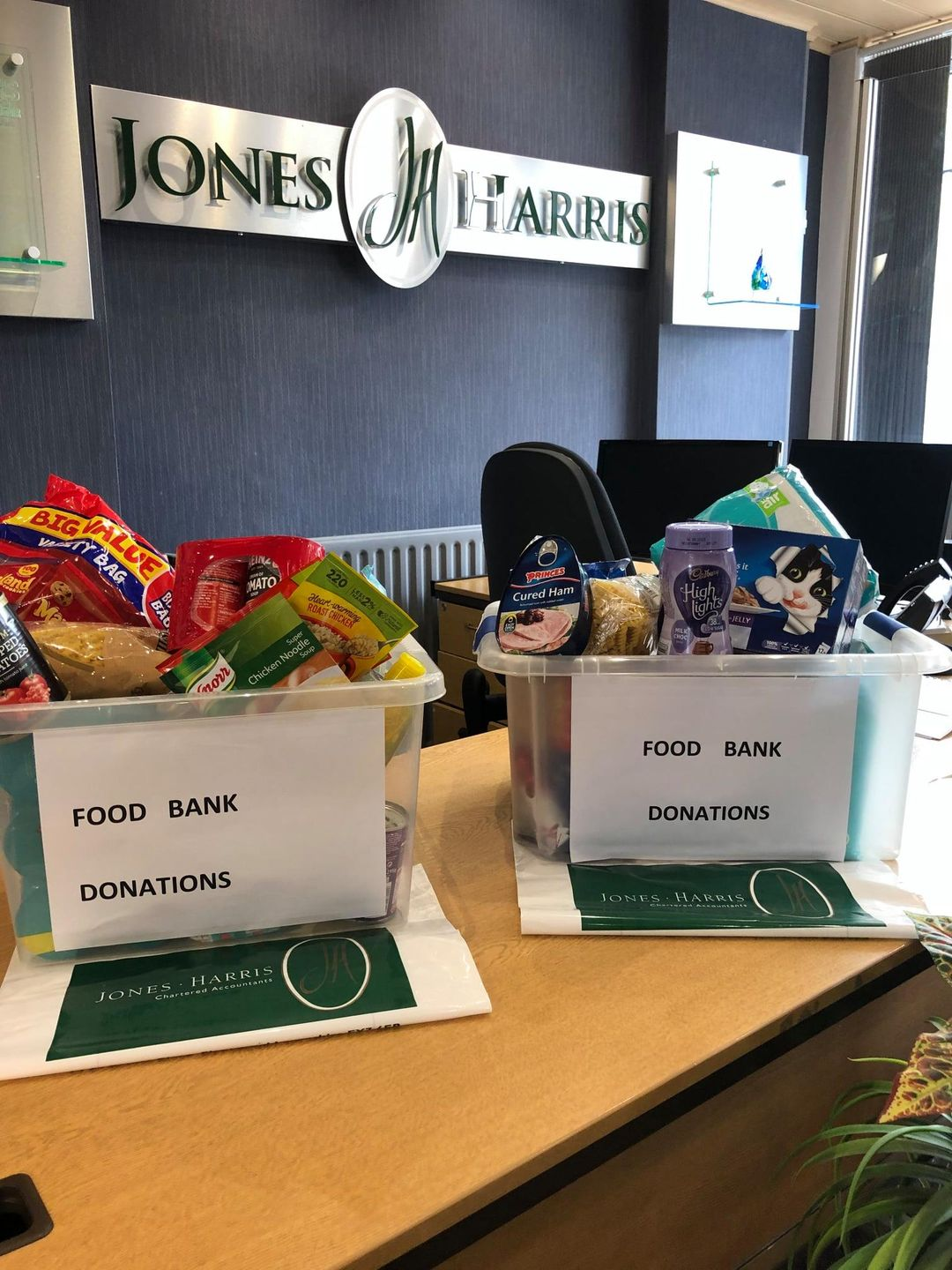 Foodbank Collections from Jones Harris