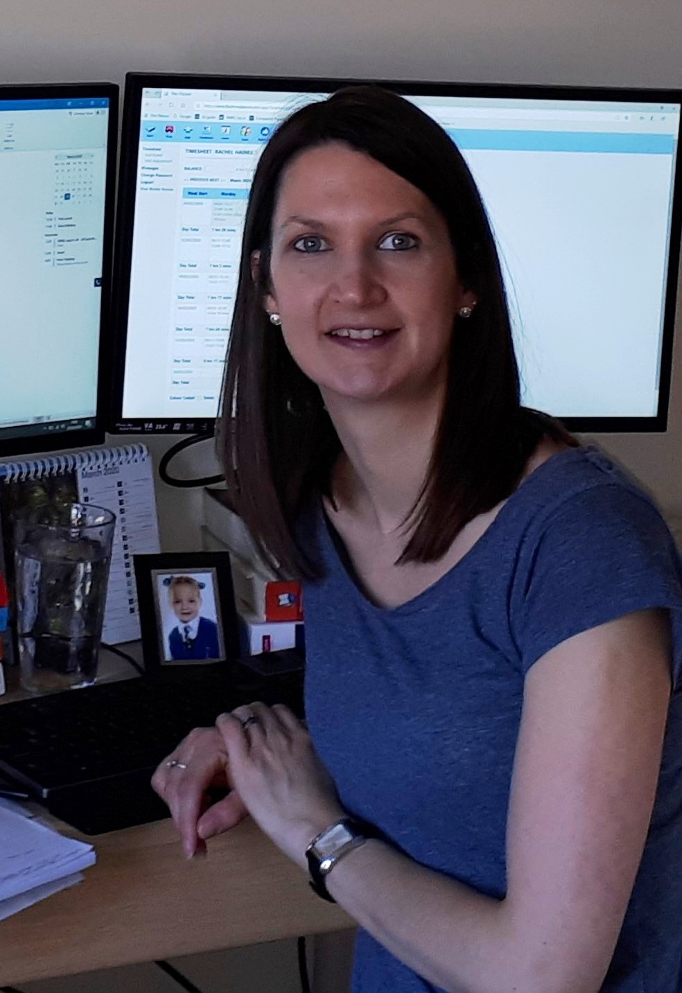 Changes at Jones Harris. Rachel Haines ready to work at home.